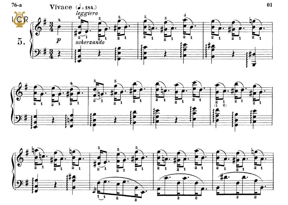 First Additional product image for - Etude Op.25 No.5 in E minor, F.Chopin, Scholtz, Ed.C.F.Peters (1904), A5, Tablet Edition (Landscape), 11pp