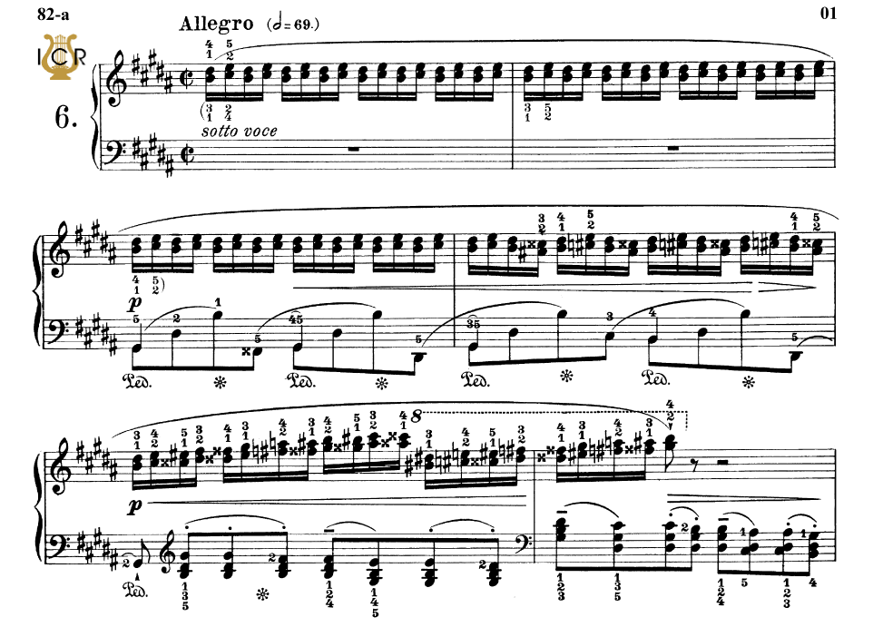 First Additional product image for - Etude Op.25 No.6 in G-Sharp minor, F.Chopin, Scholtz, Ed.C.F.Peters (1904), A5, Tablet Edition (Landscape), 11pp