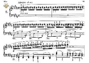 Etude Op.25 No.6 in G-Sharp minor, F.Chopin, Scholtz, Ed.C.F.Peters (1904), A5, Tablet Edition (Landscape), 11pp   eBooks   Sheet Music