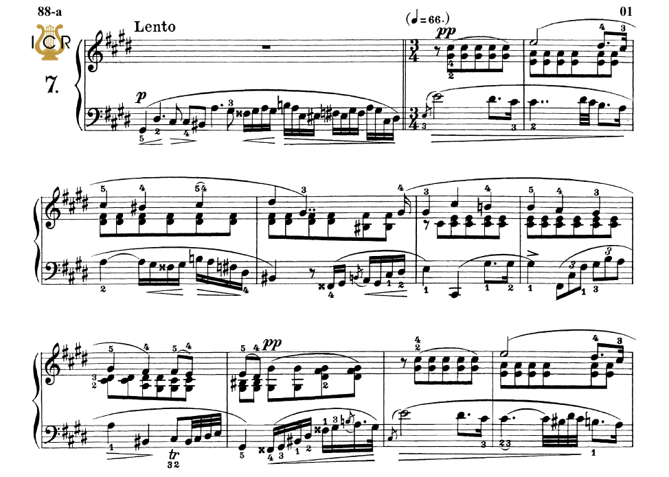First Additional product image for - Etude Op.25 No.7 in C-Sharp minor, F.Chopin, Scholtz, Ed.C.F.Peters (1904), A5, Tablet Edition (Landscape), 7pp
