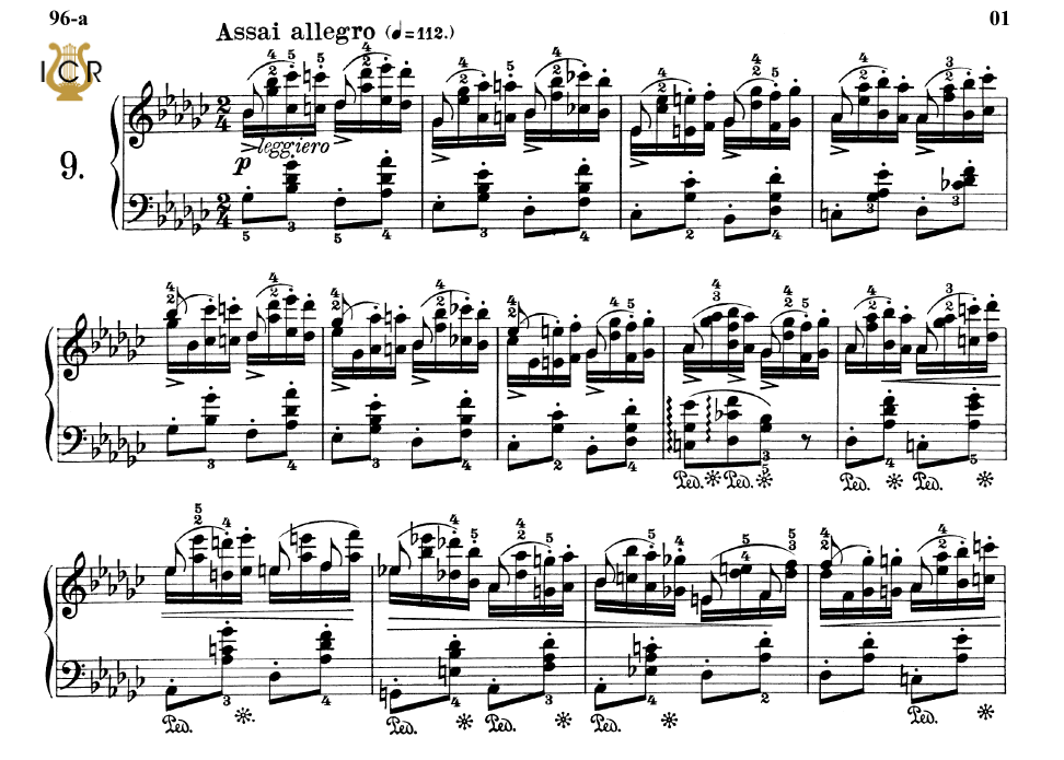 First Additional product image for - Etude Op.25 No.9 in G-Flat Major, F.Chopin, Scholtz, Ed.C.F.Peters (1904), A5, Tablet Edition (Landscape), 4pp