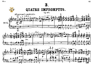 Impromptu Op.90 No.1 in C minor, F.Schubert, Ed.Breitkopf, M.Pauer (1928). Tablet Edition (A5 Landscape), 13pp | eBooks | Sheet Music