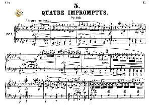 Impromptu Op.142 No.1 in F minor, F.Schubert, Ed.Breitkopf, M.Pauer (1928). Tablet Edition (A5 Landscape), 18pp | eBooks | Sheet Music