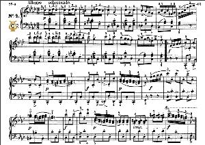 Impromptu Op.142 No.4 in F minor, F.Schubert, Ed.Breitkopf, M.Pauer (1928). Tablet Edition (A5 Landscape), 6pp | eBooks | Sheet Music