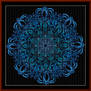 fractal 526 cross stitch pattern by cross stitch collectibles