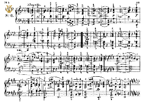 Moment Musical Op.94 No.6 in A-Flat Major, F.Schubert, Ed.Breitkopf, M.Pauer (1928). Tablet Edition (A5 Landscape), 3pp | eBooks | Sheet Music