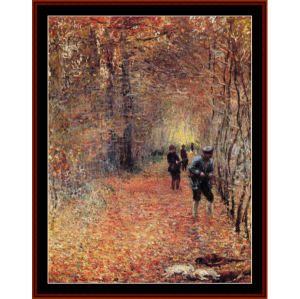 The Shoot, 1876 - Monet cross stitch pattern by Cross Stitch Collectibles | Crafting | Cross-Stitch | Wall Hangings