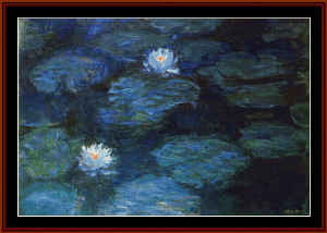 Waterlilies, 1899 - Monet cross stitch pattern by Cross Stitch Collectibles | Crafting | Cross-Stitch | Wall Hangings