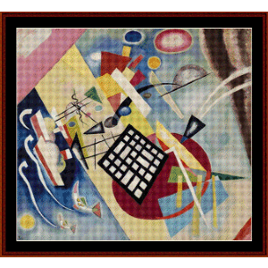 Black Frame, 1922 - Kandinsky cross stitch pattern by Cross Stitch Collectibles | Crafting | Cross-Stitch | Wall Hangings