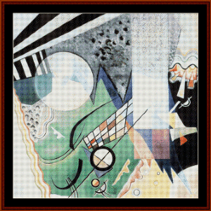 Green Composition, 1923 - Kandinsky cross stitch pattern by Cross Stitch Collectibles   Crafting   Cross-Stitch   Wall Hangings