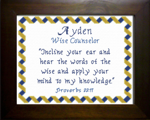 First Additional product image for - Name Blessings -  Ayden