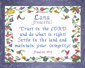Name Blessings -  Lana | Crafting | Cross-Stitch | Religious