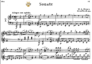 Piano Sonata No.7, K.309 in C Major, W.A.Mozart, Breitkopf Urtext, Reprint Kalmus, Tablet Edition (A5 Landscape), 29pp | eBooks | Sheet Music