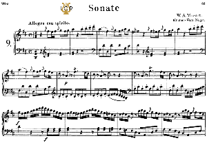 Piano Sonata No.9, K.311 in D Major, W.A Mozart, Breitkopf Urtext, Reprint Kalmus, Tablet Edition (A5 Landscape), 26pp | eBooks | Sheet Music