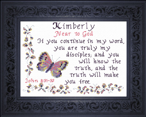 Name Blessings -  Kimberly 2 | Crafting | Cross-Stitch | Religious