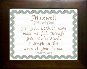 Name Blessings -  Maxwell | Crafting | Cross-Stitch | Religious