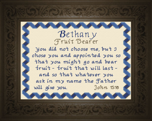 First Additional product image for - Name Blessings -  Bethany 3
