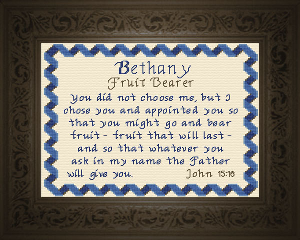 name blessings -  bethany 3
