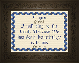 Name Blessings -  Logan | Crafting | Cross-Stitch | Other