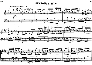 Sinfonia No.3 in D Major, BWV 789, J.S.Bach, Bischoff Urtext, Kalmus reprint, A5, Tablet Edition, 3pp | eBooks | Sheet Music