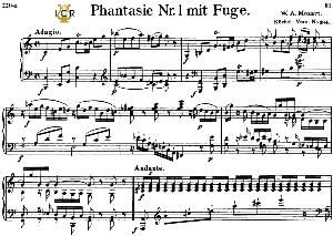Fantasia and Fugue No.1, K.394 in C Major, W.A Mozart, Breitkopf Urtext, Reprint Kalmus, Tablet Edition (A5 Landscape), 15pp | eBooks | Sheet Music