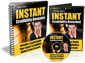 instant credibility revealed - with master resell rights