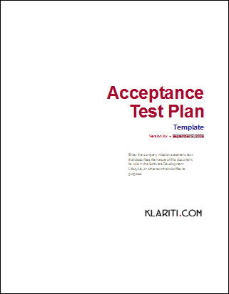 Acceptance Test Plan  Software  Software Templates