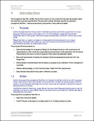 Free Software Business Plan Template