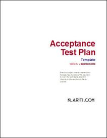 Acceptance Test Plan | Software | Software Templates