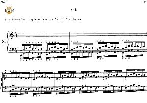 Lesson No. 8 (1-2-3-4-5), The Virtuoso Pianist, Part 1, Ch.Hanon, Ed. Schirmer (PD), Tablet Edition, A5 Landscape, pp   eBooks   Sheet Music