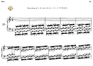 Lesson No.16 (Extension 3-4, and exercise for 3-4-5), The Virtuoso Pianist, Part 1, Ch.Hanon, Ed. Schirmer (PD), Tablet Edition, A5 Landscape, 2pp   eBooks   Sheet Music