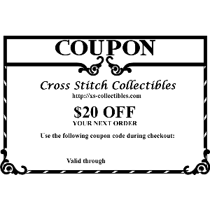 $20 OFF Your Next Order at Cross Stitch Collectibles | Crafting | Cross-Stitch | Other