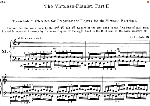 Second Additional product image for - Lesson No.34 (Turning the thumb under 4th finger), The Virtuoso Pianist, Part 2, Ch.Hanon, Ed. Schirmer (PD), Tablet Edition, A5 Landscape, 2pp