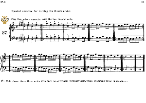 lesson no.37 (special exercise for turning the thumb under), the virtuoso pianist, part 2, ch.hanon, ed. schirmer (pd), tablet edition, a5 landscape, 1p