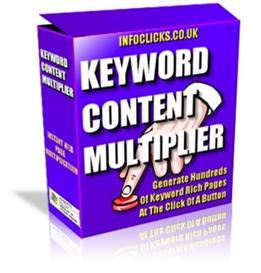 Keyword Content Multiplier - Generate Multiple Keyword Relevant Pages | Software | Internet