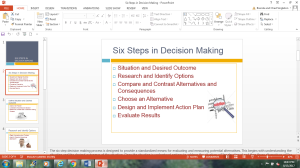 Six Steps in Decision Making | Other Files | Presentations