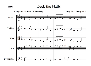 Deck the Halls with Boughs of Holly | eBooks | Sheet Music