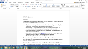 HRM Five Questions | Documents and Forms | Research Papers