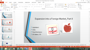 Power Point Presentation of Expansion into a Foreign Market, Part II | Documents and Forms | Other Forms