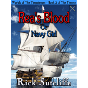 worlds of the timestream: the throne, book 2: rea's blood or navy girl