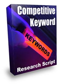 Competitive Keyword Research Script With Resale Rights | Software | Utilities
