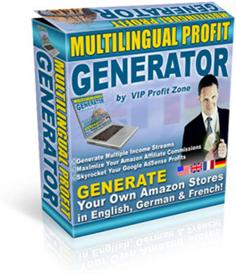 multilingual profit generator - generate own seo amazon stores in engl