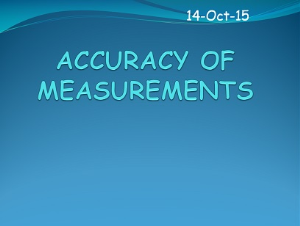 1.3 accuracy of measurements