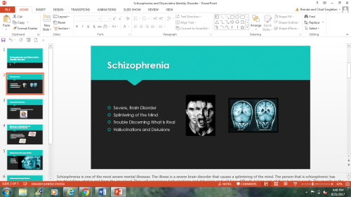 First Additional product image for - Schizophrenia and Dissociative Identity Disorder PowerPoint