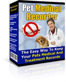 Pet Medical Recorder With Resale Rights | Software | Home and Desktop