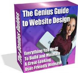 the genius guide to website design with resale rights