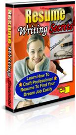 Resume Writing Secrets With Private Labels Rights | eBooks | Education