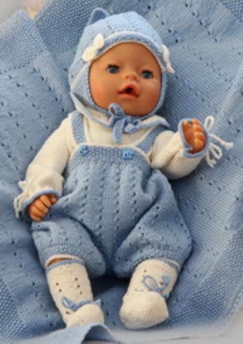 First Additional product image for - DollKnittingPatterns 0137D KASPER  Body, bukse, lue, sokker og teppe (pledd)-(Norsk)