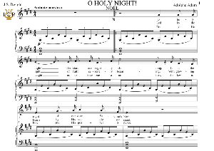 O Holy Night (Noël, High Voice in E Major (High Soprano/Tenor). English Modern Version. A. Adam, J.S. Dwight. Digital score. A5 (landscape). Tablet Sheet Music Download. | eBooks | Sheet Music