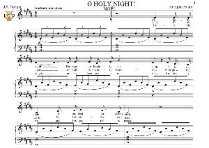 o holy night (noël), medium voice in b major (mezzo). english modern version. a. adam, j.s. dwight. digital score. a5 (landscape).tablet sheet music download.